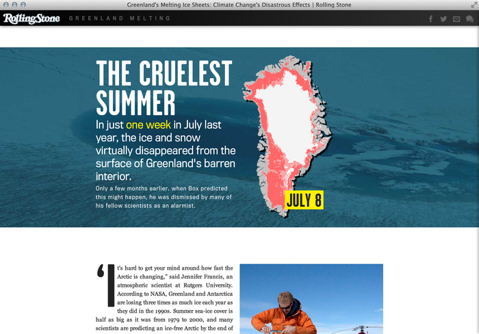 """""""Greenland Melting"""", Rolling Stone feature website 4"""