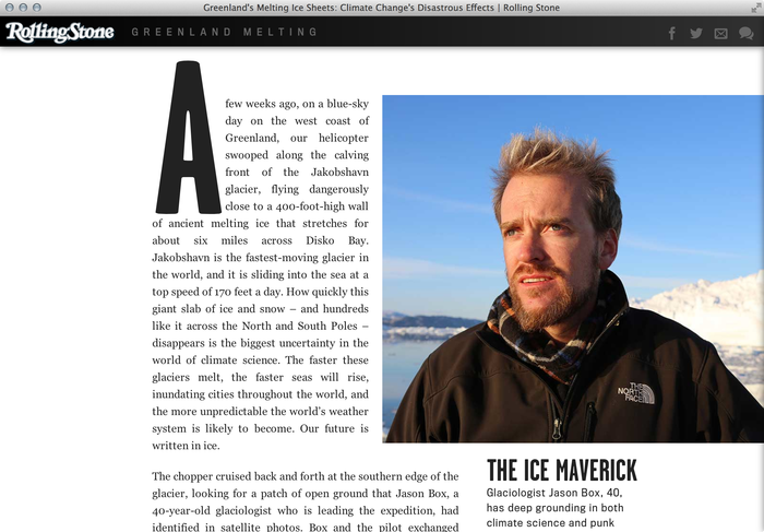 """""""Greenland Melting"""", Rolling Stone feature website 6"""