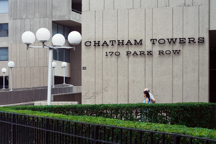 Chatham Towers sign