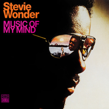 Stevie Wonder – <cite>Music of my Mind</cite> album art