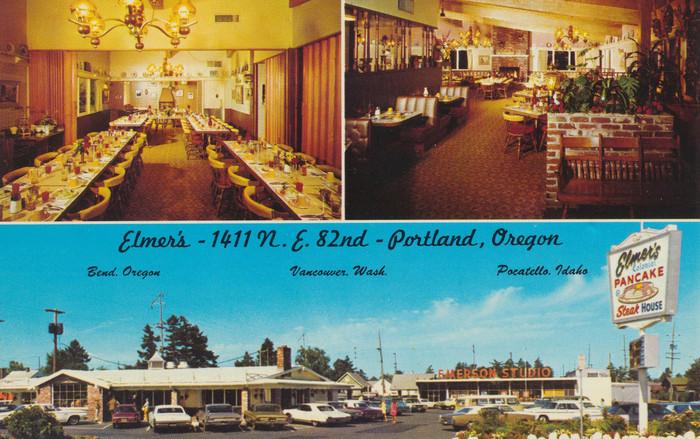 Elmer's Pancake & Steak House postcard