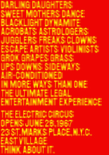 The Electric Circus posters, flyers, ads