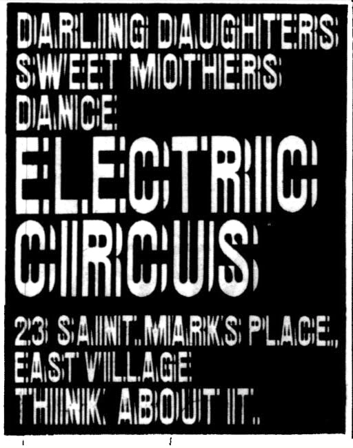 The Electric Circus posters, flyers, ads 2