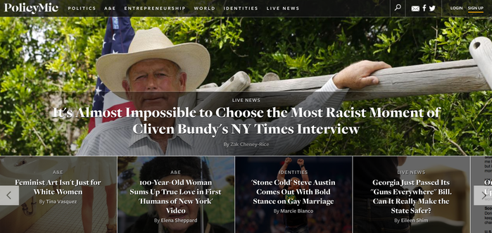 PolicyMic website 1