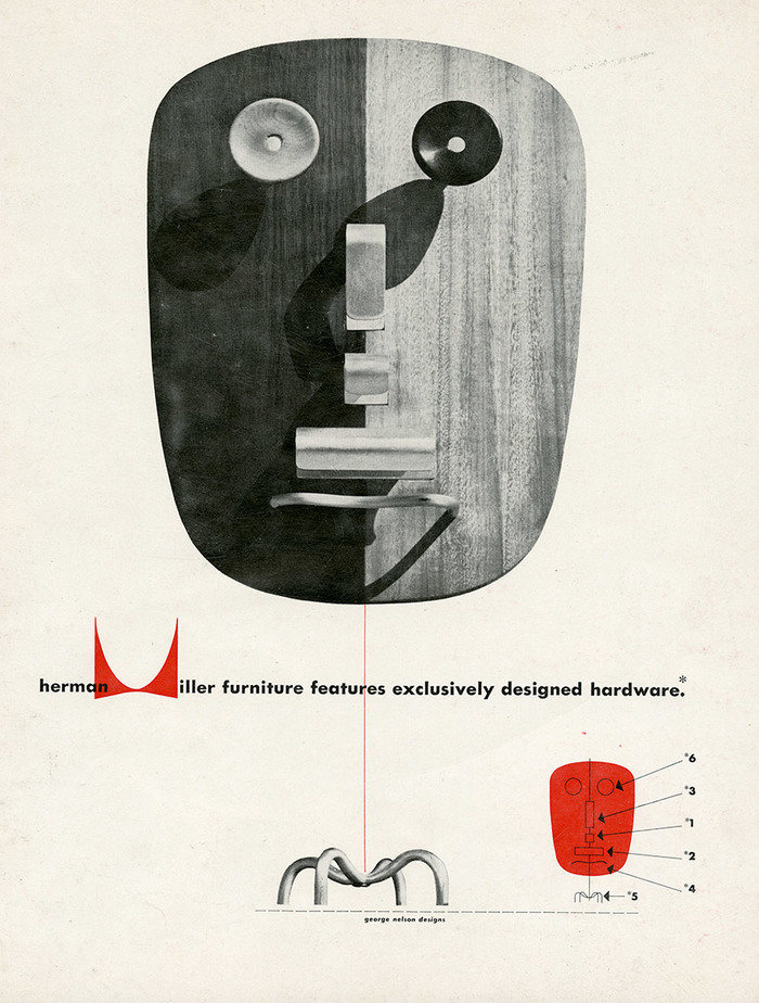 Herman Miller ads for George Nelson Designs, 1948–50 3