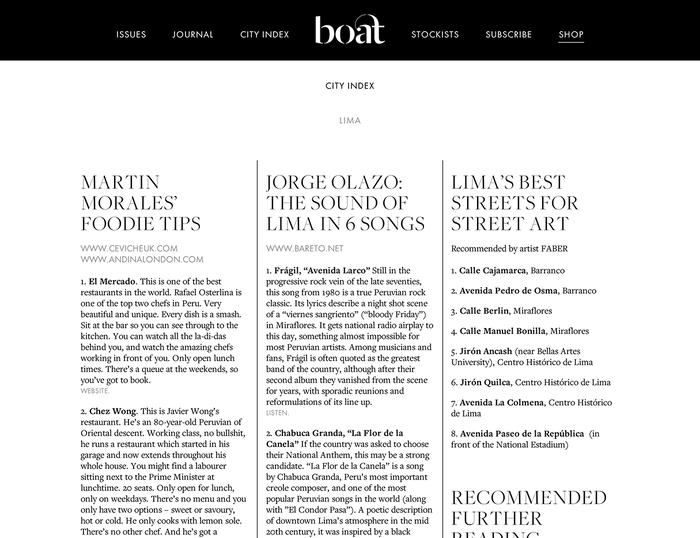 Boat Magazine Website 1