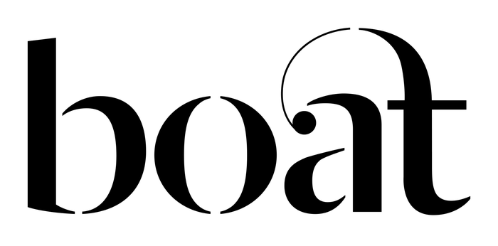 Dala Moa was modified with a custom ligature inspired by the typeface's ornamental 'st' and 'ct' ligatures.
