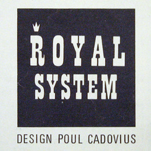 Royal System by Paul Cadovius logo and advertising