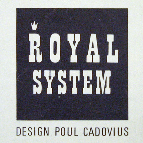 Royal System by Paul Cadovius logo and advertising 1