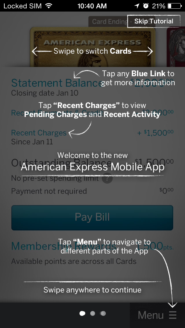 American Express iPhone app 8