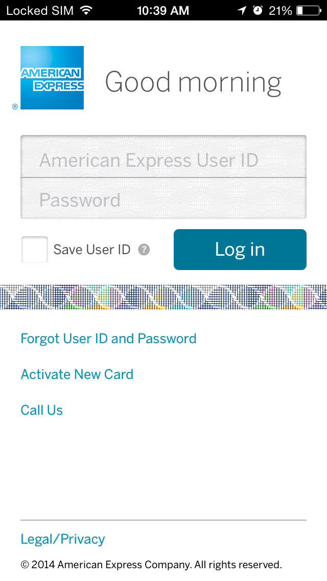 American Express iPhone app 9