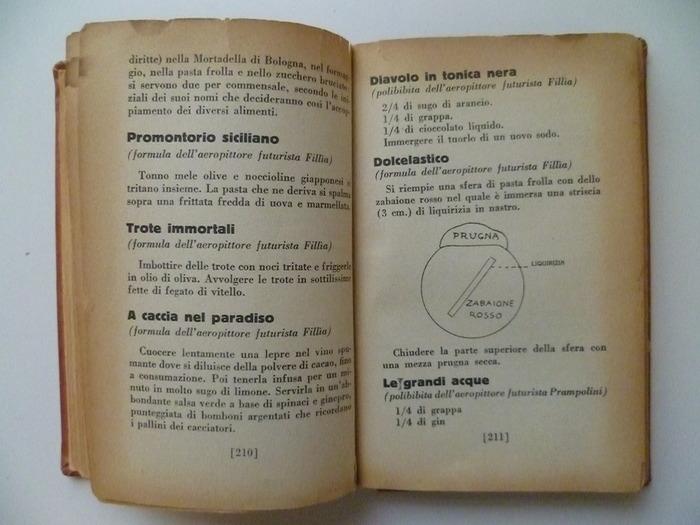 The Futurist's Cookbook by F. T. Marinetti, 1st edition 8