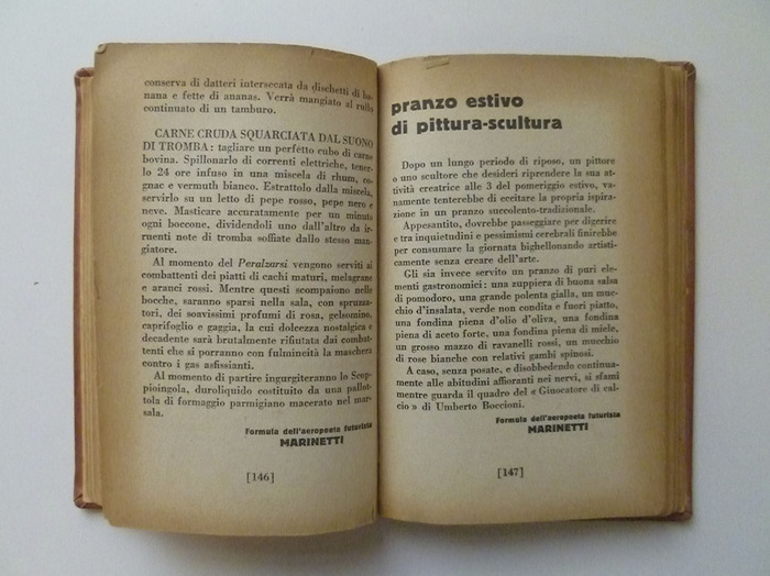 The Futurist's Cookbook by F. T. Marinetti, 1st edition 7