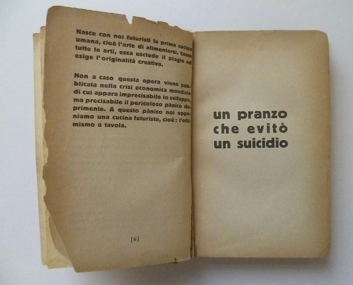 The Futurist's Cookbook by F. T. Marinetti, 1st edition 5