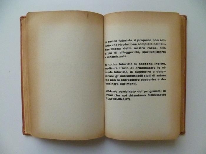 The Futurist's Cookbook by F. T. Marinetti, 1st edition 3