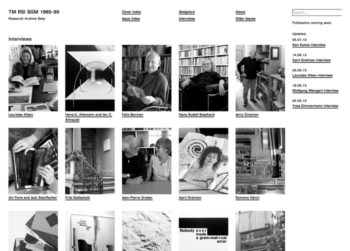 TM Research Archive website 3