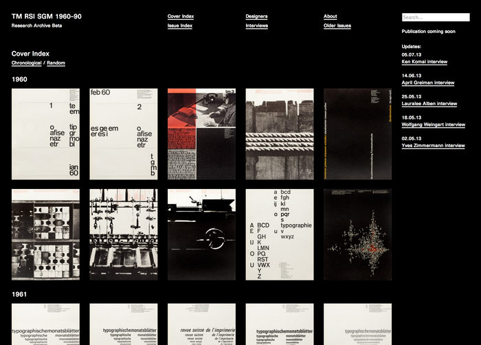 TM Research Archive website 1