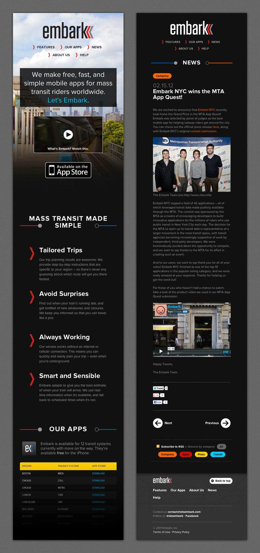 Embark branding and website 4