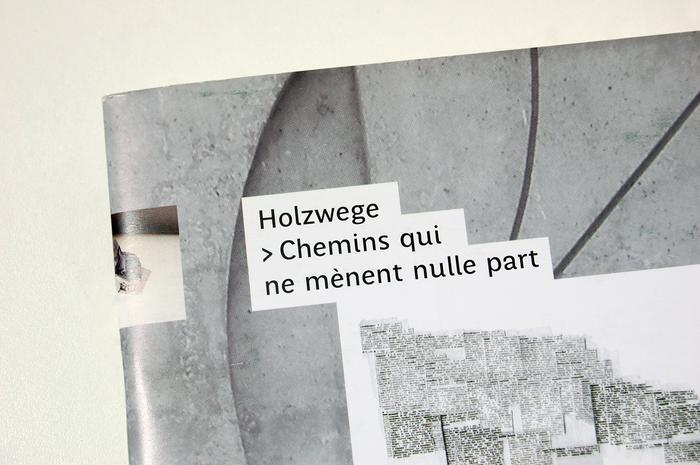 Holzwege > Chemins qui ne mènent nulle part 2
