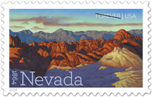 Nevada Statehood postage stamps