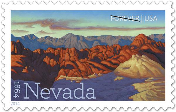 Nevada Statehood postage stamps
