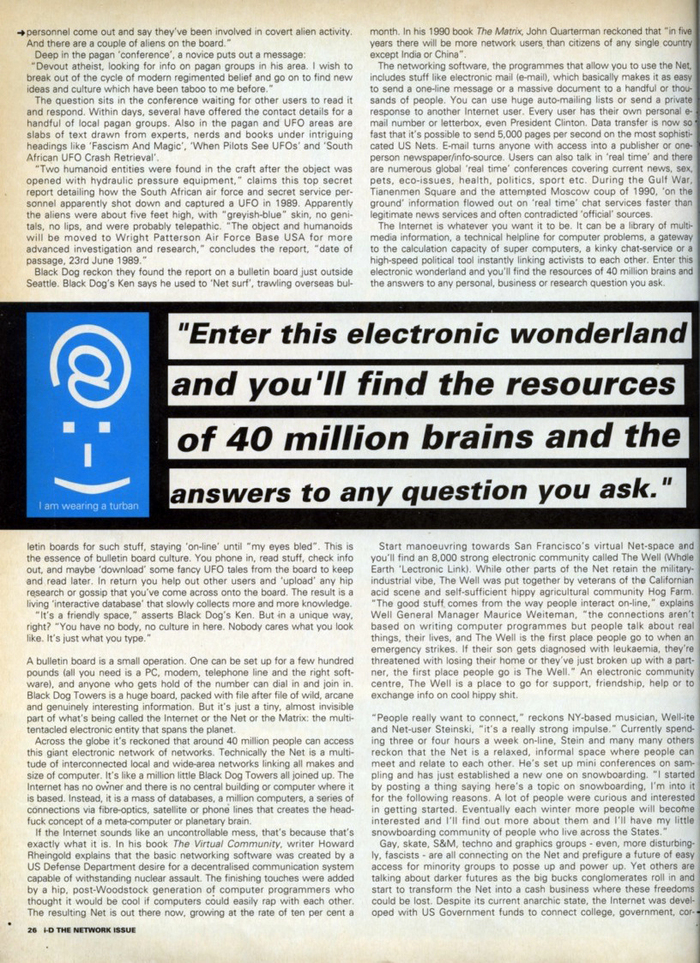 """""""News From The Net"""" in i-D Magazine's Network Issue 1"""