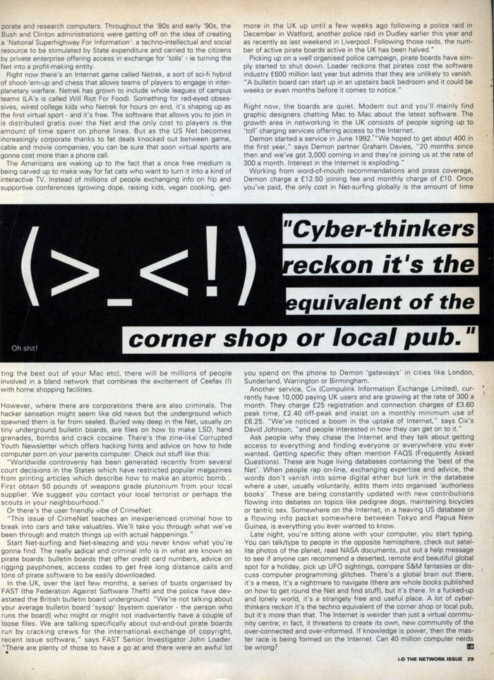 """""""News From The Net"""" in i-D Magazine's Network Issue 5"""