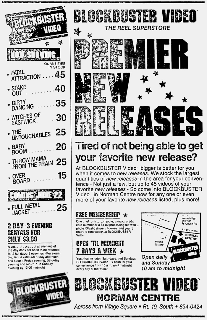 An advertisement from The Pittsburg Press using ITC Machine with Helvetica as a supporting player.