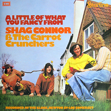 Shag Connor &amp; The Carrot Crunchers – <cite>A Little of What You Fancy</cite> album art