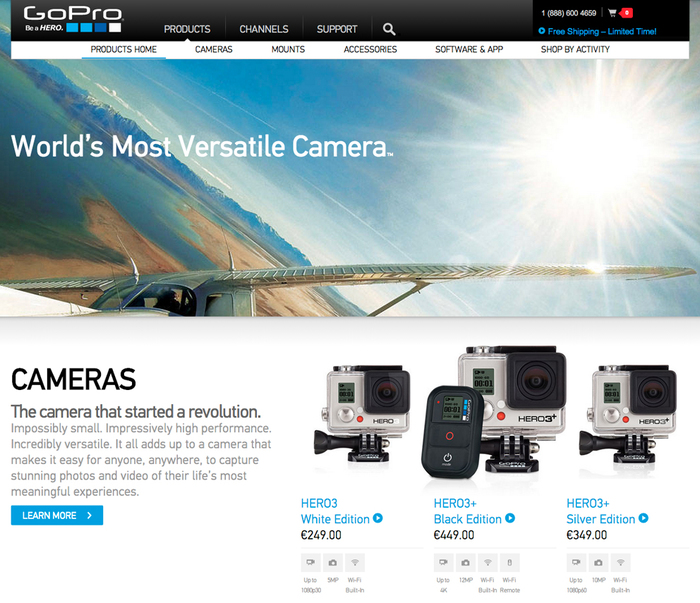GoPro website 2