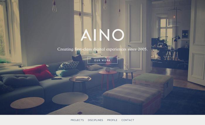 Aino Aktiebolag website 1