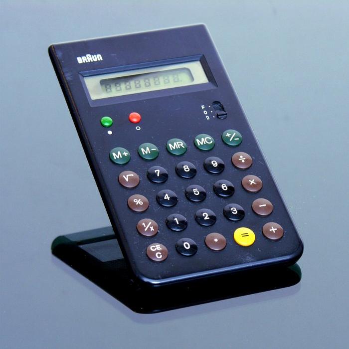 Braun ET 55 pocket calculator 1