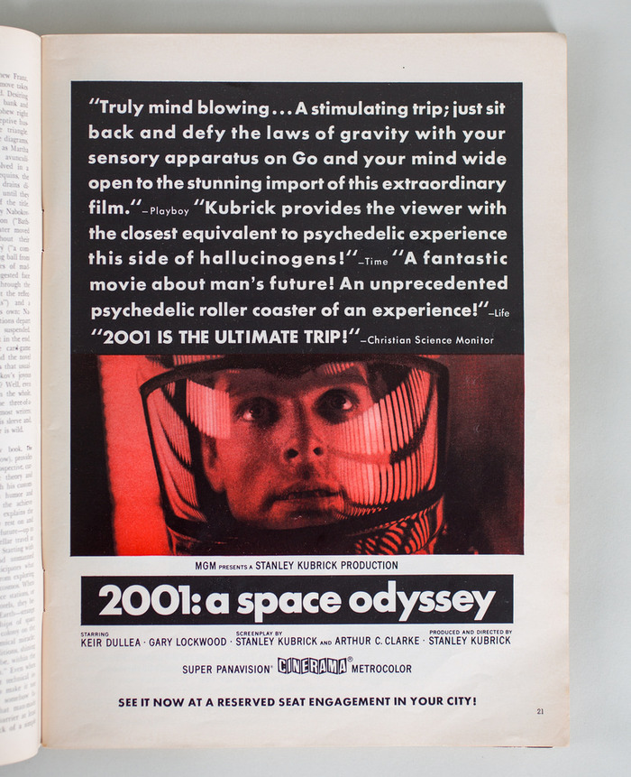 Ad for 2001: A Space Odyssey in Playboy magazine 3