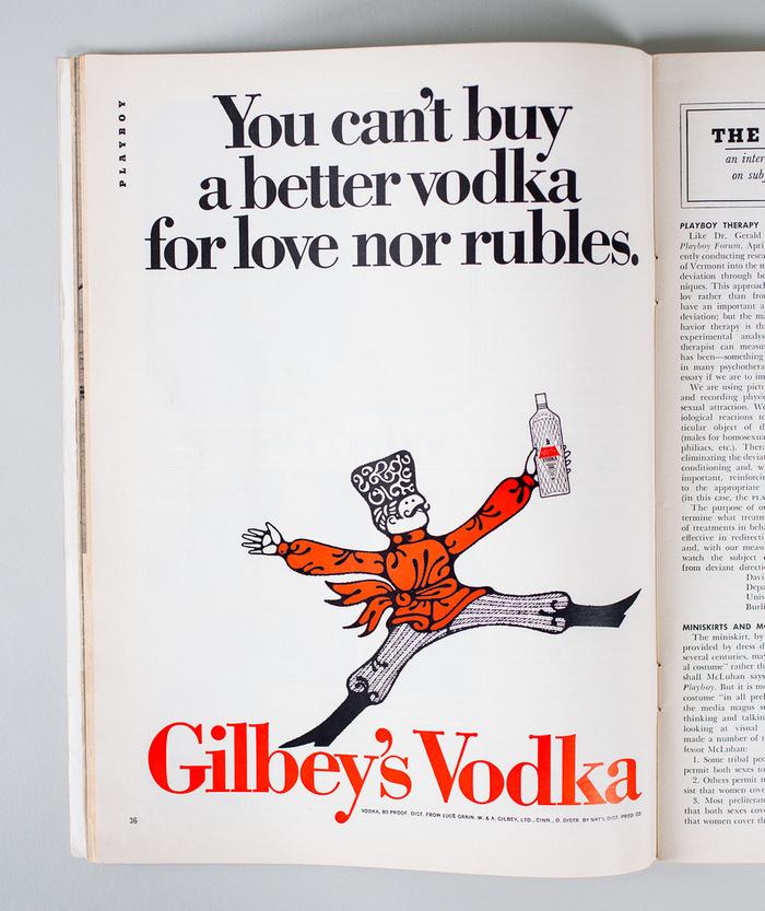 Gilbey's Vodka ad in Playboy magazine 4