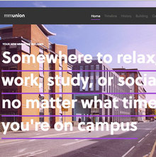 Students' Union building website