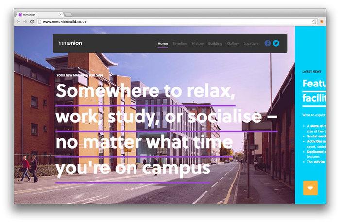Students' Union building website 1