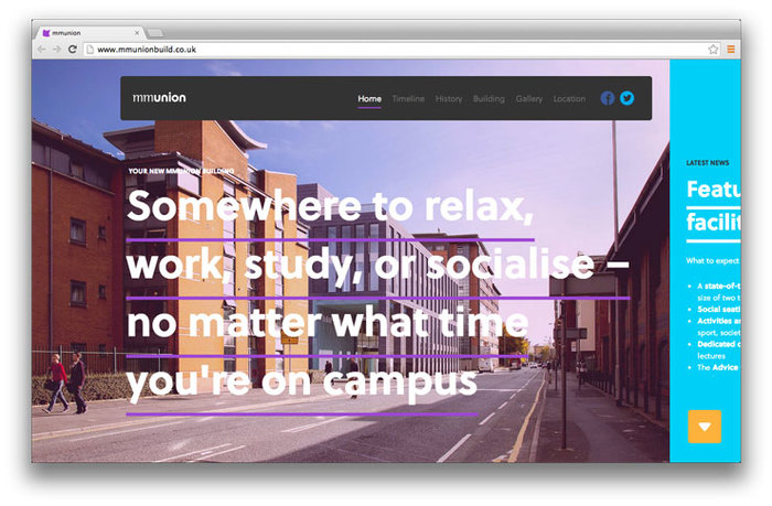 Students' Union building website 1