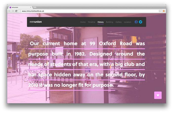 Students' Union building website 2