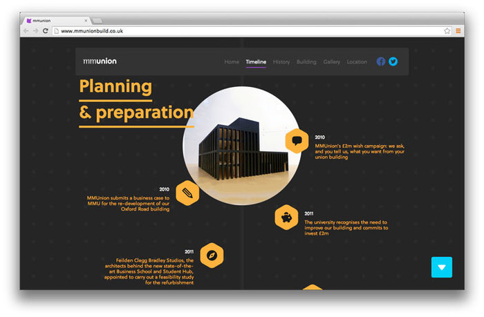 Students' Union building website 6