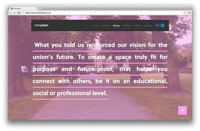 Students' Union building website 8