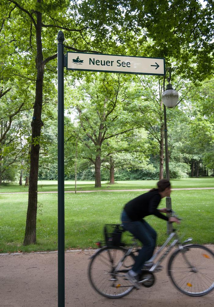 Wayfinding system Großer Tiergarten 1