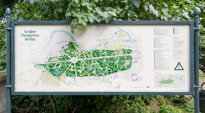 Wayfinding system Großer Tiergarten 2