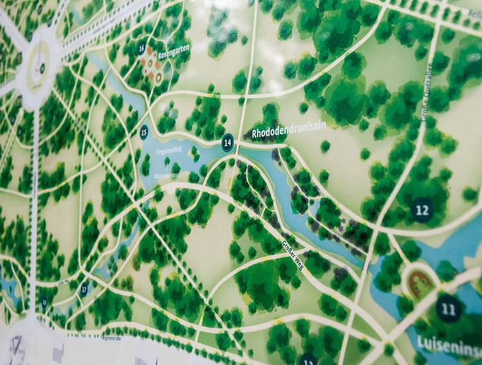 Wayfinding system Großer Tiergarten 3