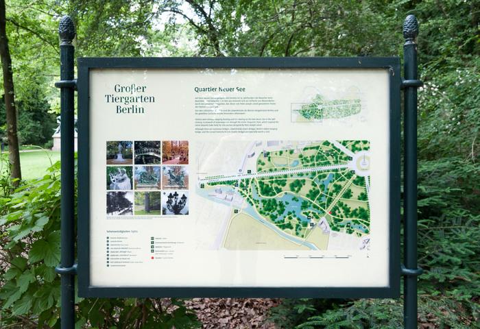Wayfinding system Großer Tiergarten 4