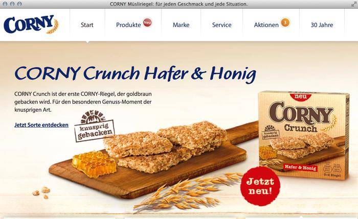 Corny granola bars website 3