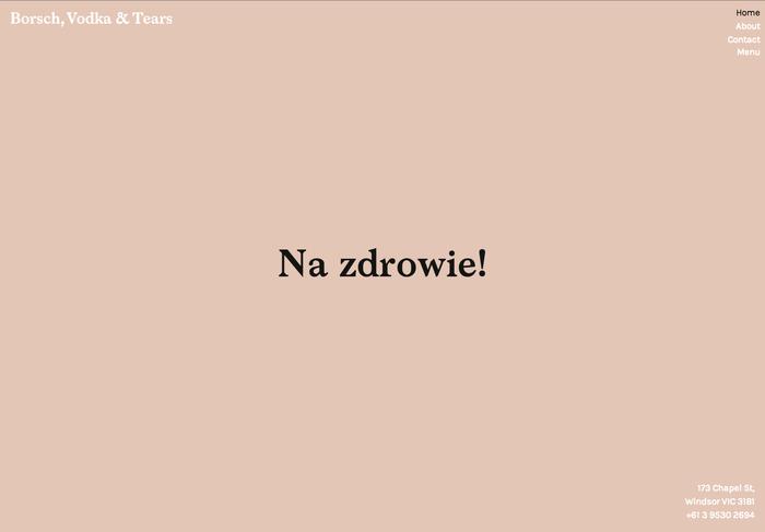 Borsch Vodka & Tears 1
