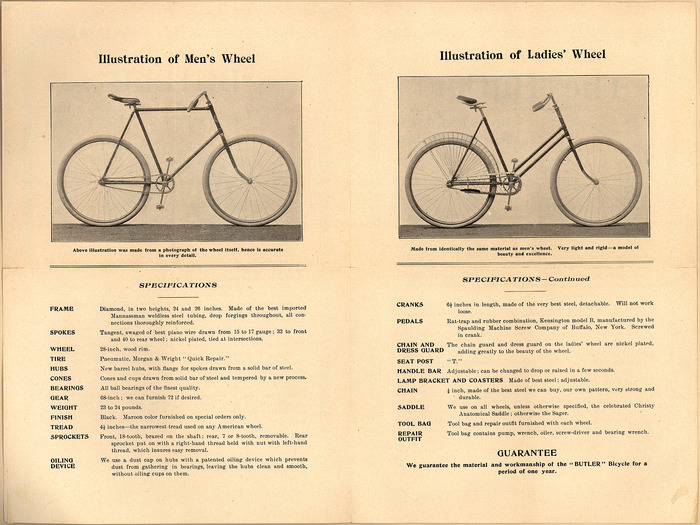 The 1896 Butler Bicycle 2