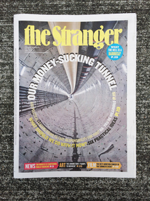 <cite>The Stranger</cite>, Vol. 23, No. 42 Cover