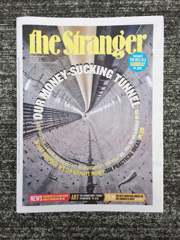 The Stranger, Vol. 23, No. 42 Cover