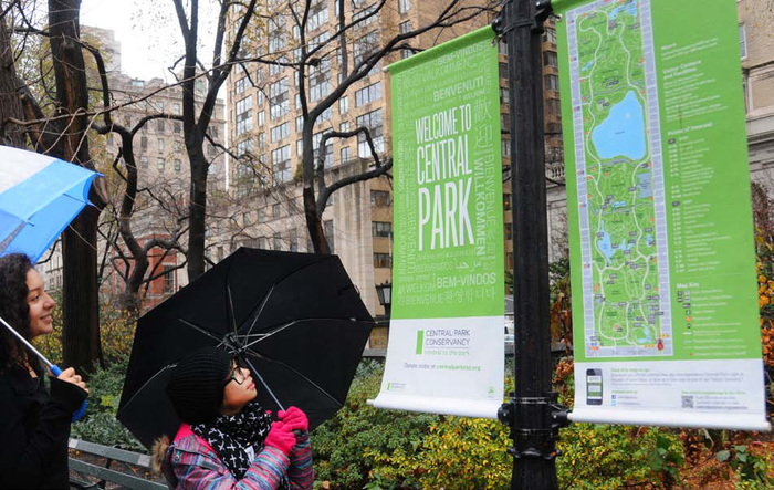 New York City Central Park identity & signs 1